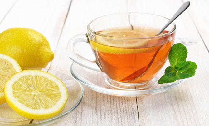 Зеленый чай с лимоном от тошноты