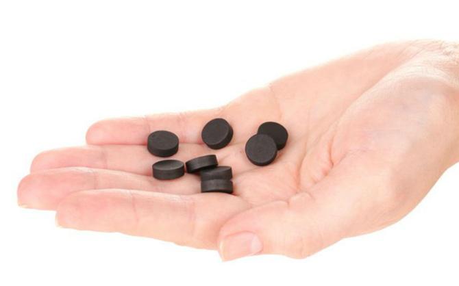 Черный активированный уголь от поноса